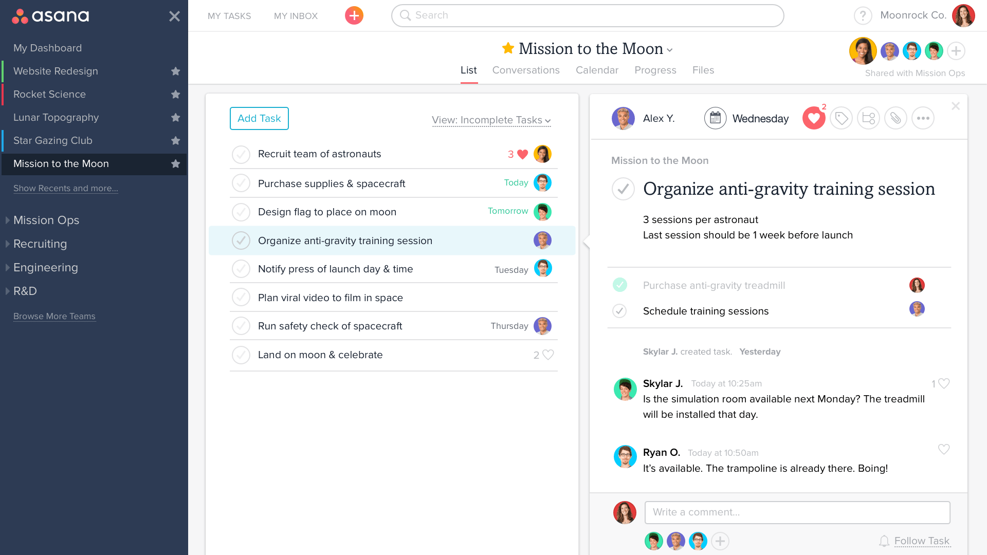 asana review task management