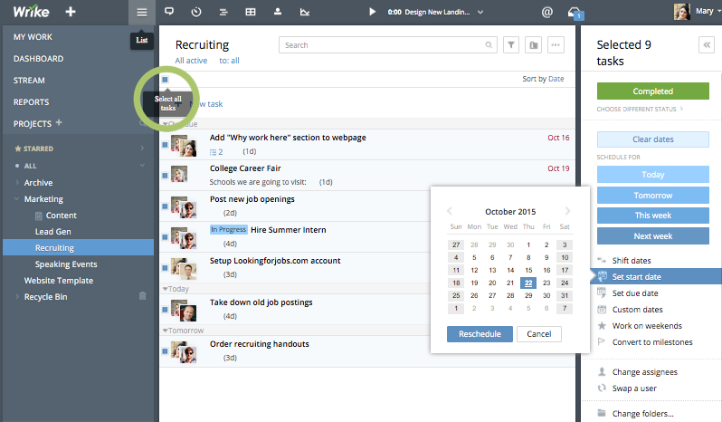 wrike review task management